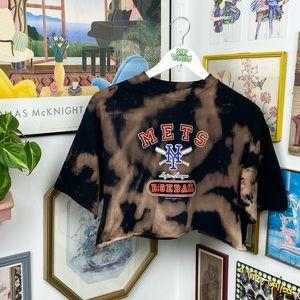 Vintage Y2K 2002 New York Mets Cropped T-Shirt
